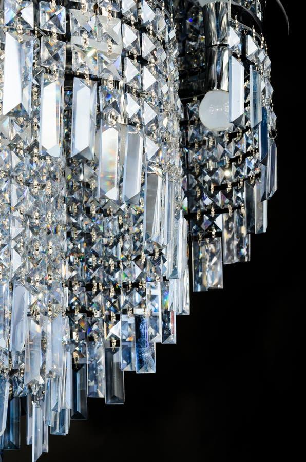 Modern glass ljuskronacloseup royaltyfria foton