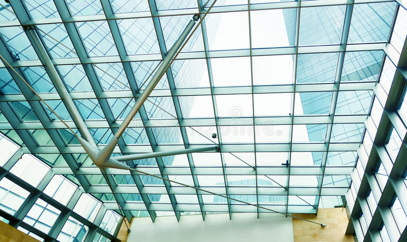 Download Modern Glass Office Commercial Building Stock Image - Image of inside, structure: 59589059