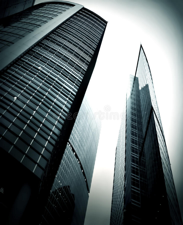 Modern glass skyscraper. Perspective view royalty free stock images