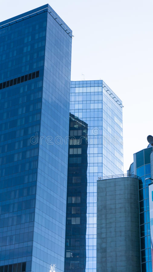 Modern glass skyscrapers in the city Tallinn royalty free stock photos