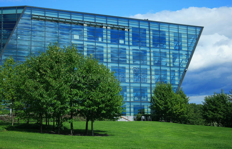Modern glass and steel building royalty free stock photos