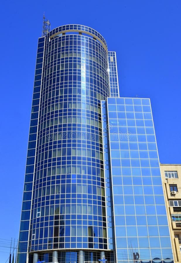 Modern Glass Tower - Romanian Chamber Of Commerce Stock Image