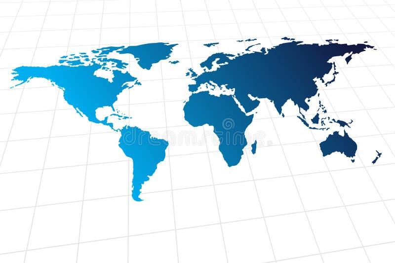 Modern global world map. Vector - Modern global world map with metallic wave vector illustration