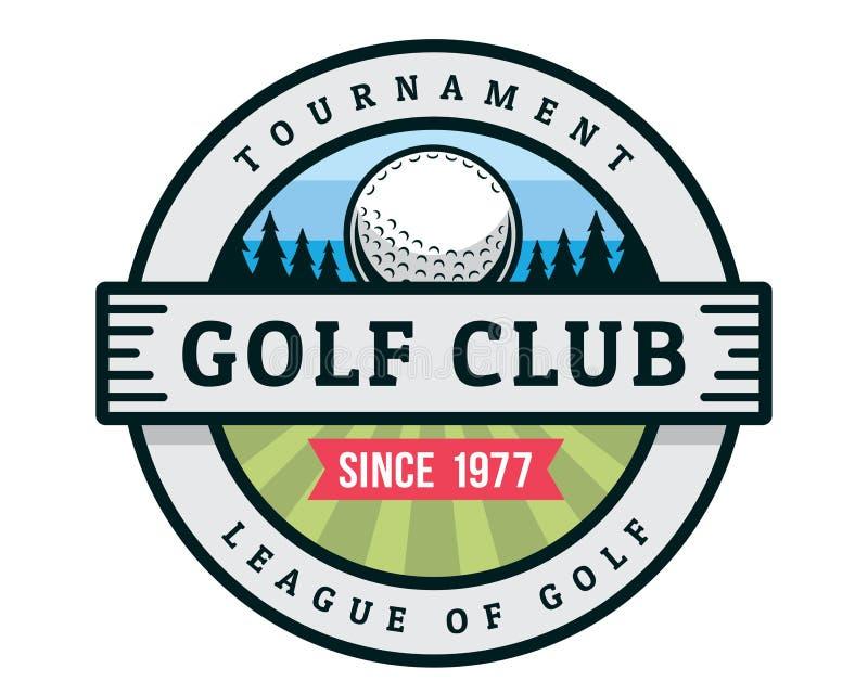 Modern Golf Badge Logo Illustration vector illustration