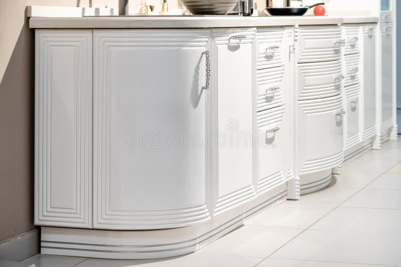 Modern gourmet kitchen interior stock photography