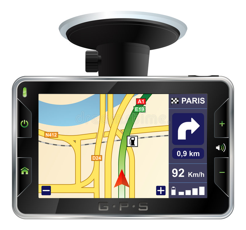 Modern GPS vector illustration