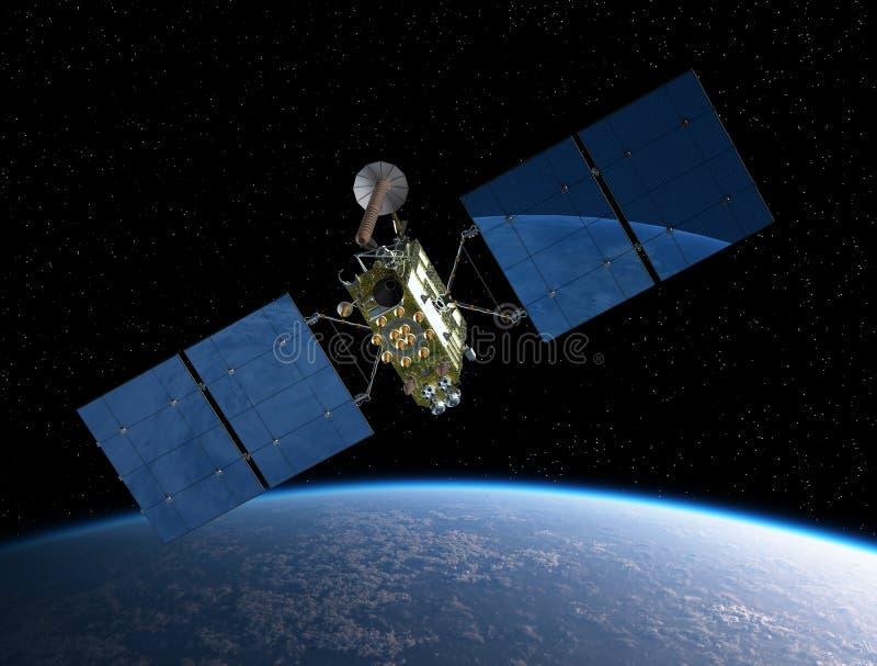 Modern GPS satellite royalty free illustration
