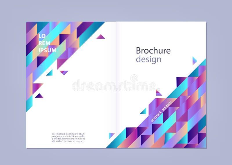 Modern gradiënt horizontaal malplaatje voor zaken of promotieaffiche of presentatie vector illustratie