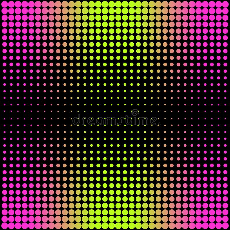 Modern gradient pink to neon green background with dots in 80s 90s style vector illustration
