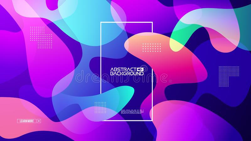 Modern gradient shape background. Colorful gradient cover design. Fluid flat shapes composition. Vector modern design royalty free stock photos