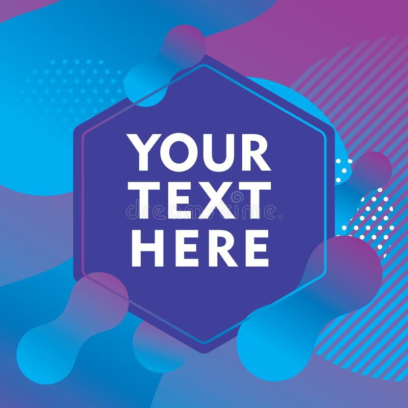 Label template design with blue and purple color gradation, modern abstract design vector illustration
