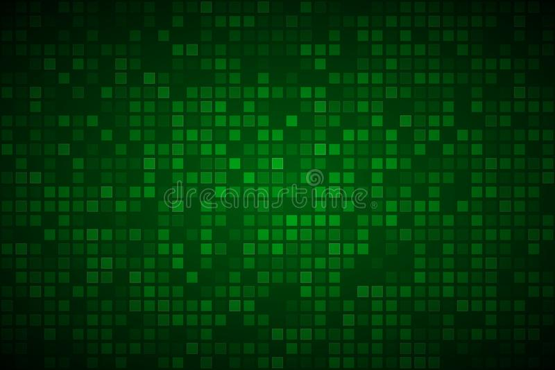 Modern green abstract vector background with transparent squares stock illustration