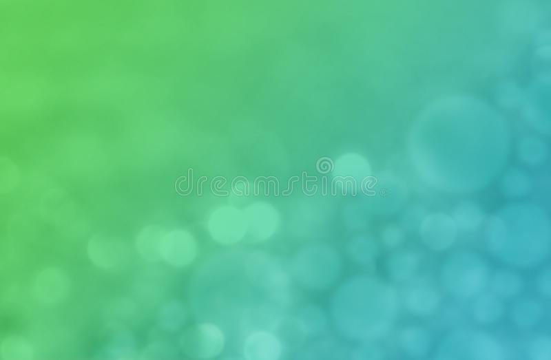 Modern green and blue colorful bokeh abstract wallpaper background illustration. royalty free illustration