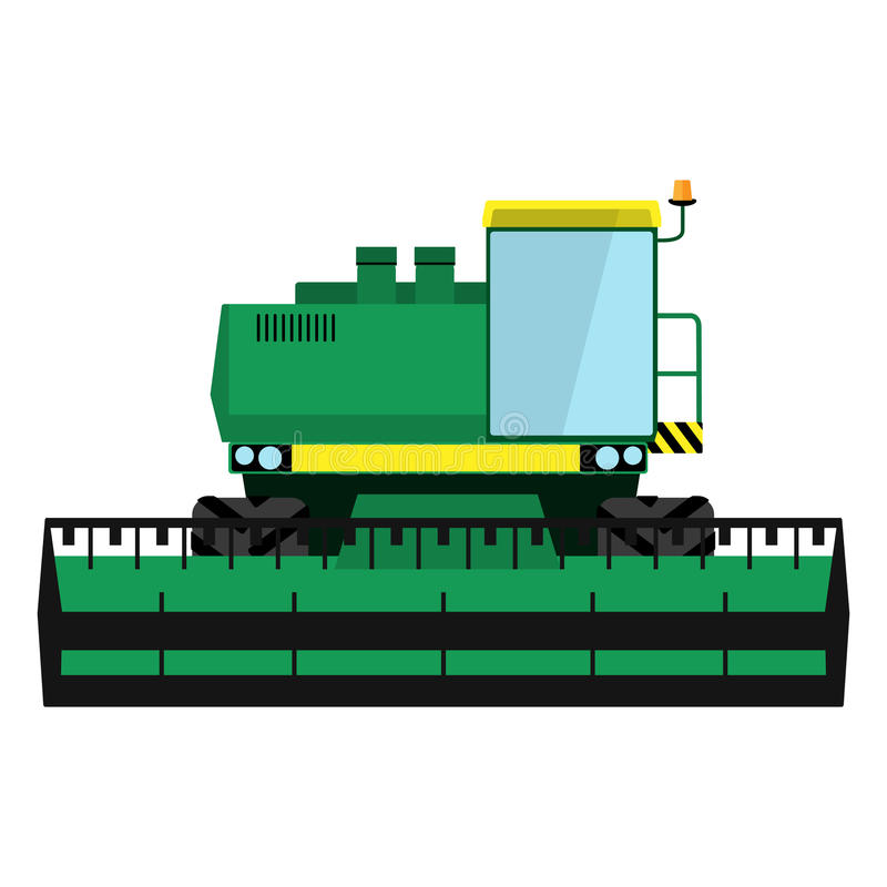 Modern green harvester stock illustration