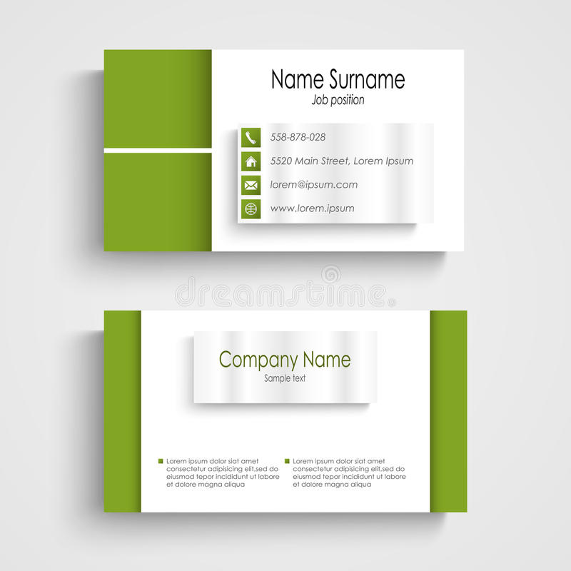 Free Modern Green Light Business Card Template Stock Photos - 36937913