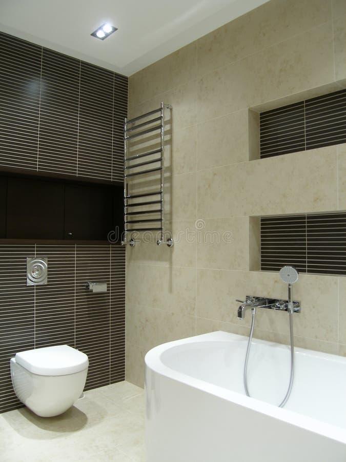Modern grey bathroom royalty free stock image
