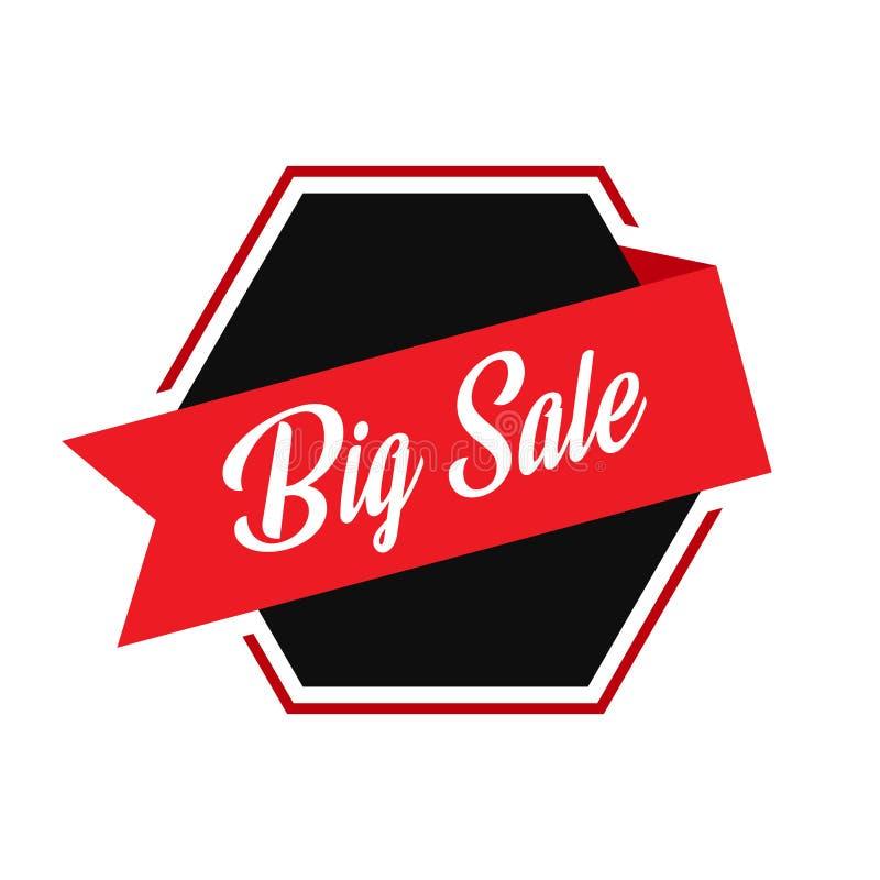 Modern groot van het verkooplint vectormalplaatje als achtergrond stock illustratie