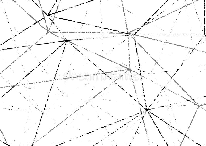 Modern grunge distressed wireframe halftone gritty layout. Easy vector illustration