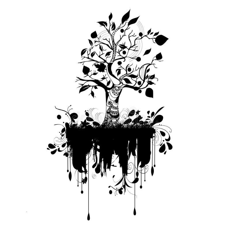 modern grunge nature vector illustration