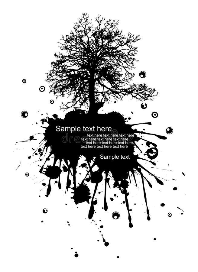 Download Modern grunge nature stock vector. Image of drip, black - 7006977