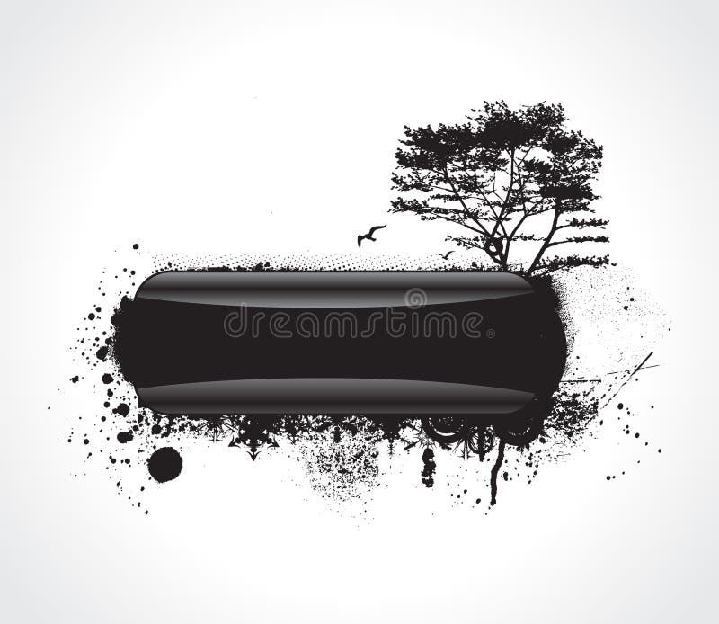 modern grunge sample text royalty free illustration