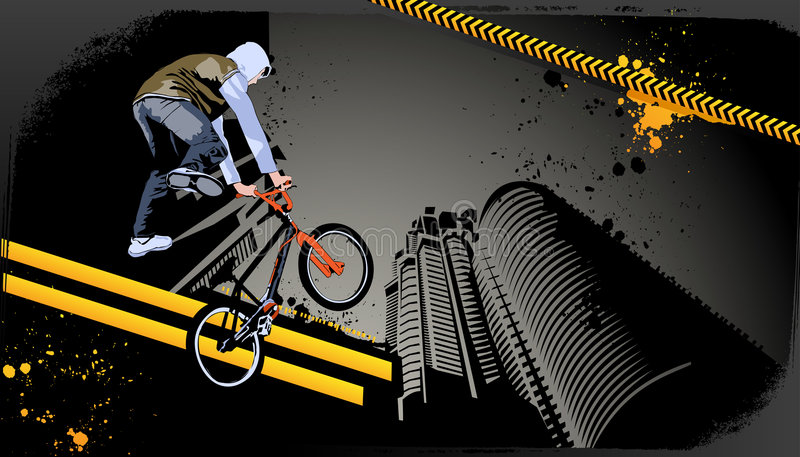 Modern grunge stedelijk grafisch ontwerp vector illustratie