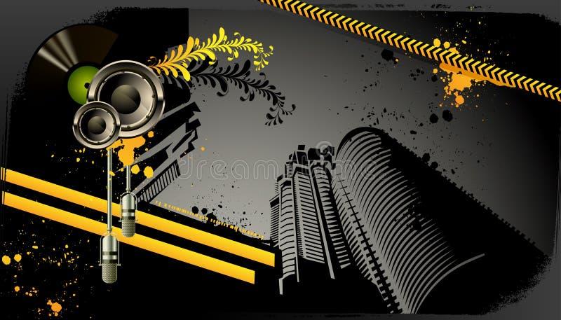 Modern grunge urban graphic design stock illustration