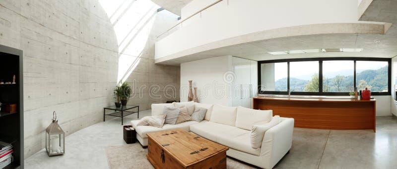 modern härlig hemmiljö royaltyfri fotografi
