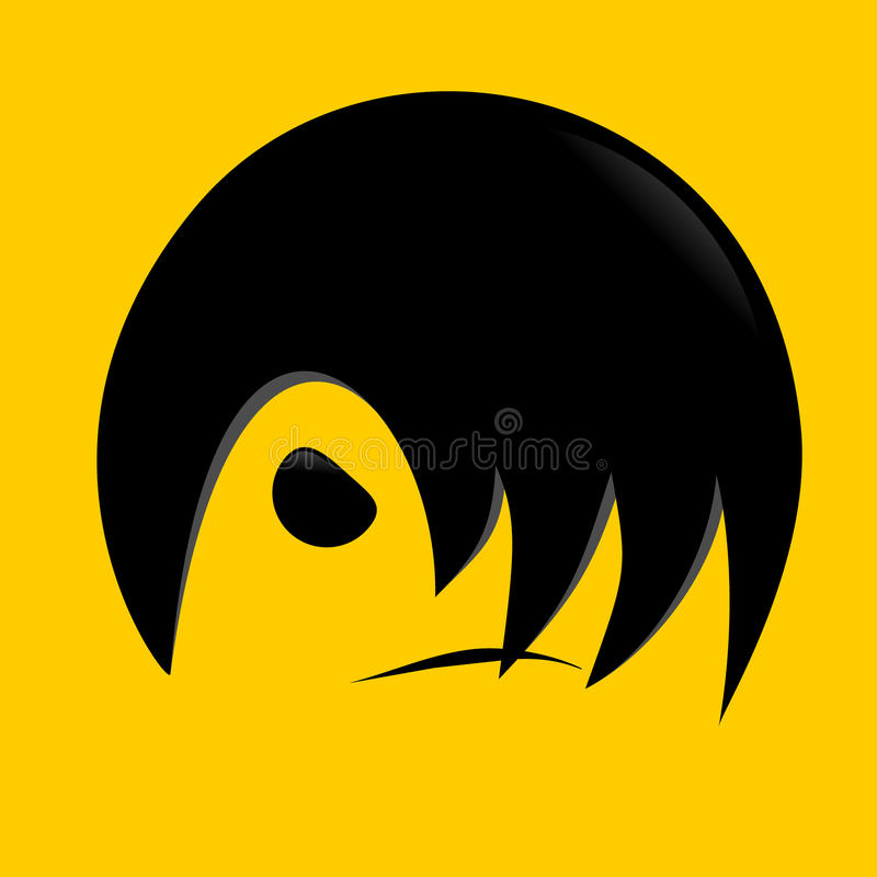 Download Modern hair stock vector. Image of fashion, black, doll - 9922666