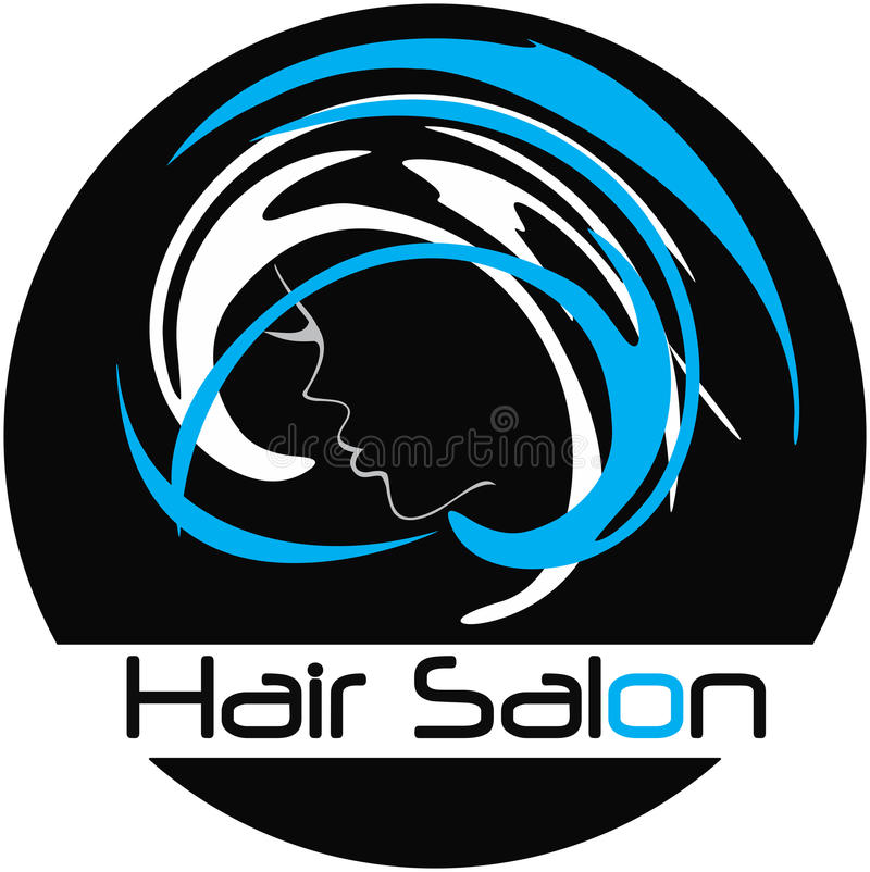 Modern Hair Salon Logo vector illustration