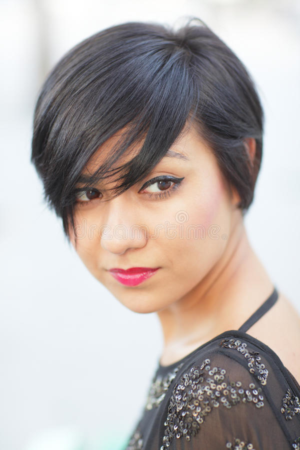 Modern haircut royalty free stock images