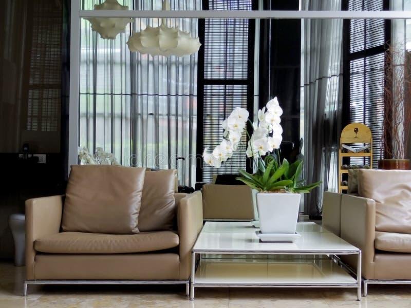 Modern hal binnenlands ontwerp royalty-vrije stock afbeelding