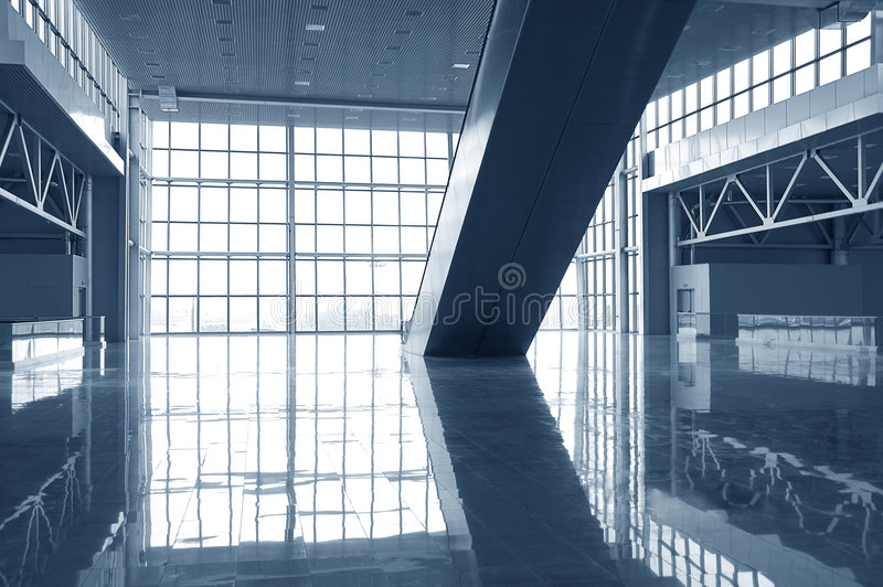 Download Modern hall stock photo. Image of construction, column - 4767596