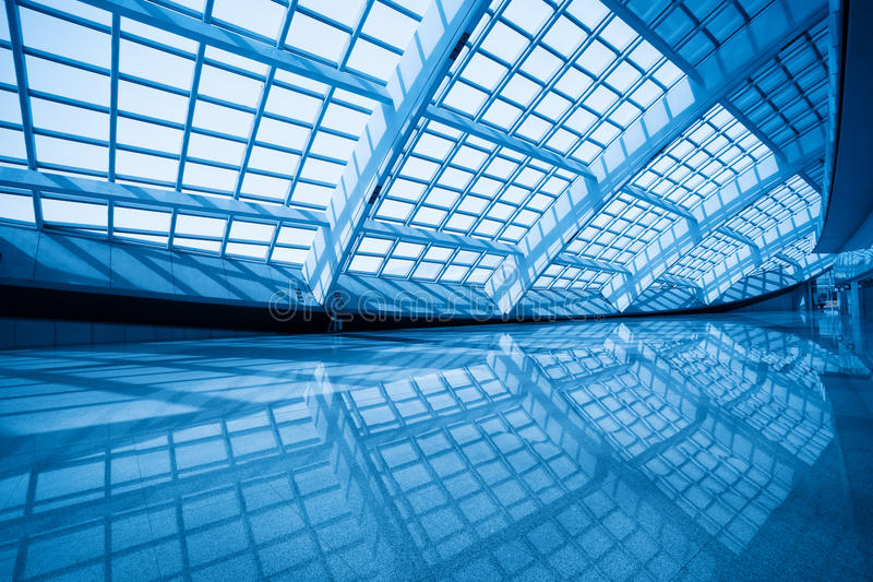 Modern Hall Inside In The Beijing Airfield Stock Photography