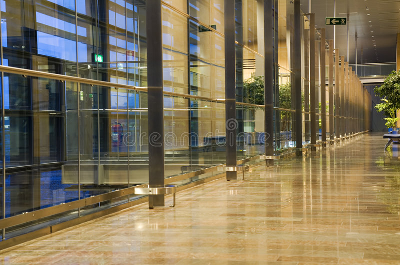 Download Modern Hallway stock image. Image of european, reflection - 2575721