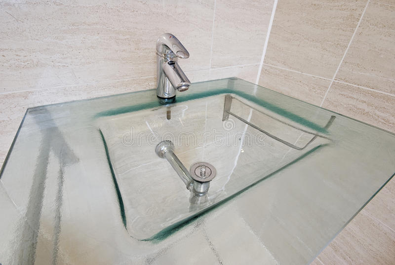Modern hand wash basin royalty free stock photography