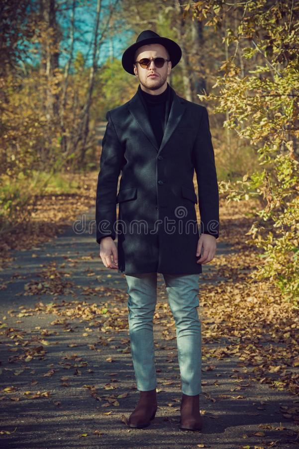 Outdoor male fashion royalty free stock image