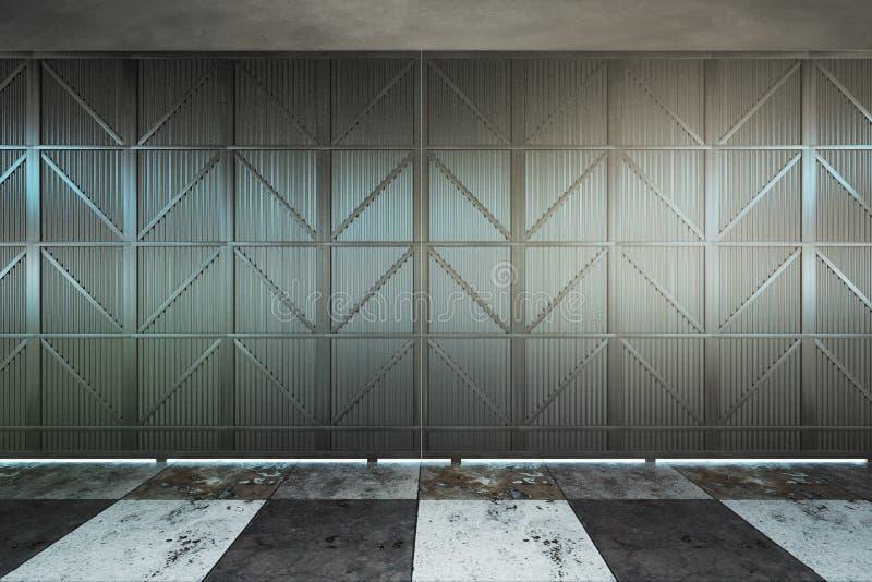 Modern hangar door vector illustration