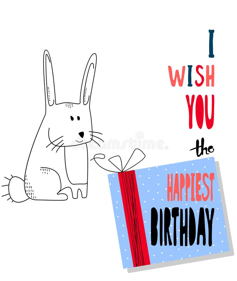modern happy birthday greeting card background design