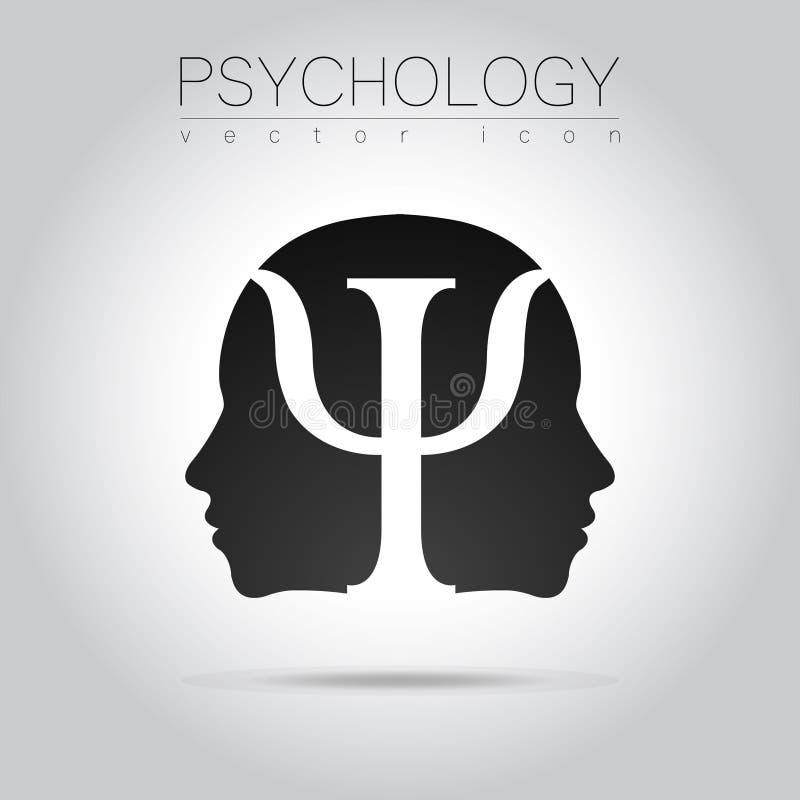 Modern Head Of Psychology Profile Human In Vector Black