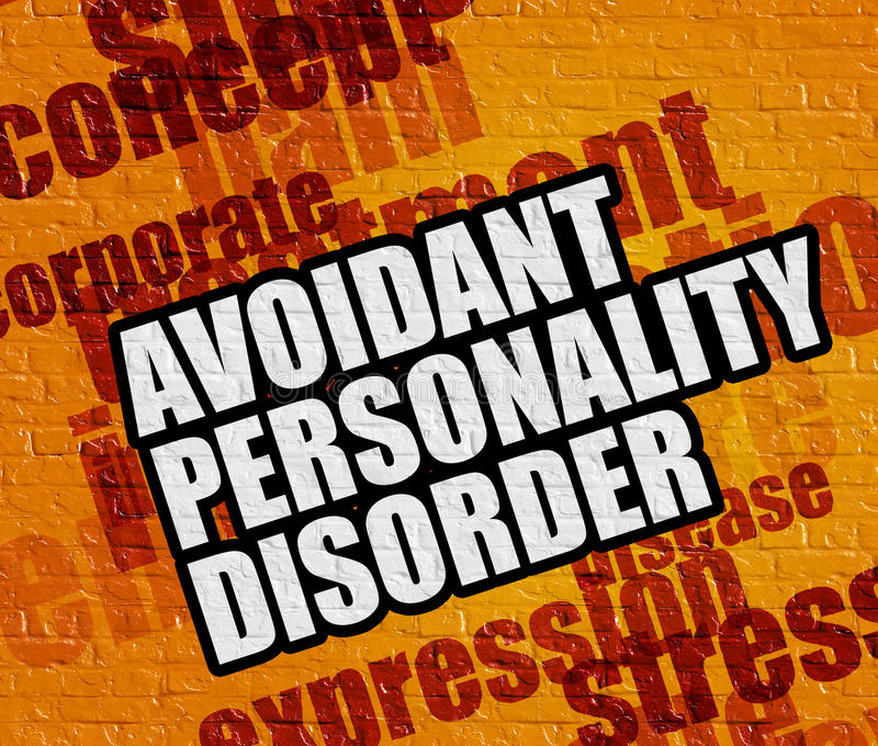 Modern healthcare concept: Avoidant Personality Disorder on Yell vector illustration