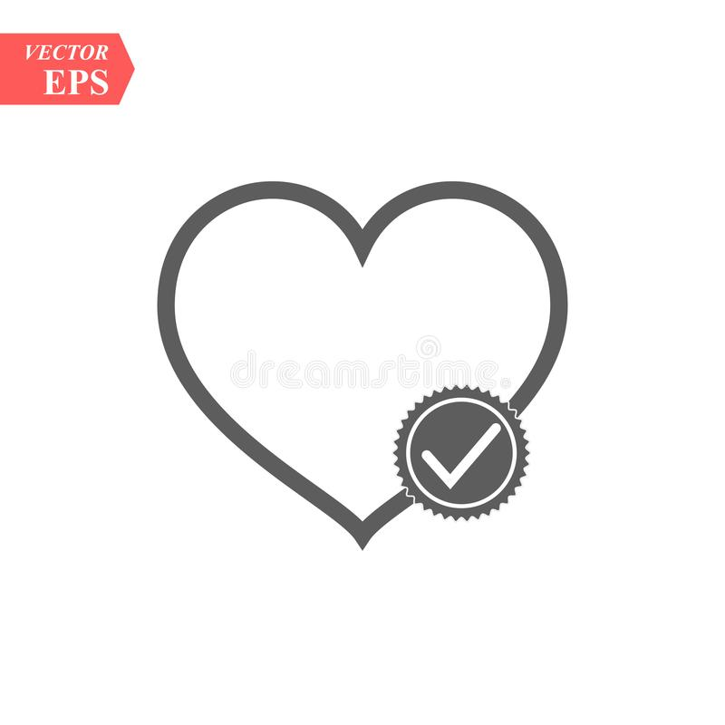 Modern heart line icon. Premium pictogram isolated on a white background. Vector illustration. Stroke high quality stock illustration