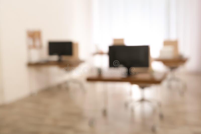 Modern helder aangestoken bureau stock foto