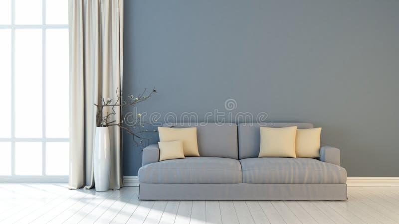 Modern helder binnenland 3d geef terug royalty-vrije illustratie