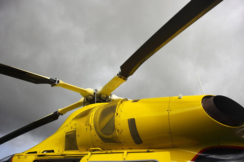 Modern helicopter royalty free stock image