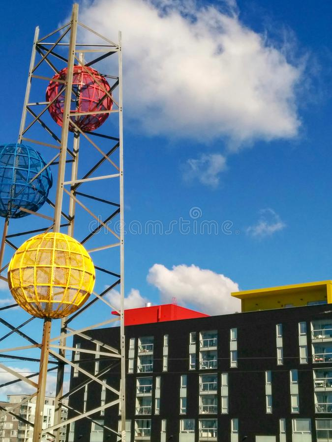 Modern Helsinki Apartments with Art royalty free stock images