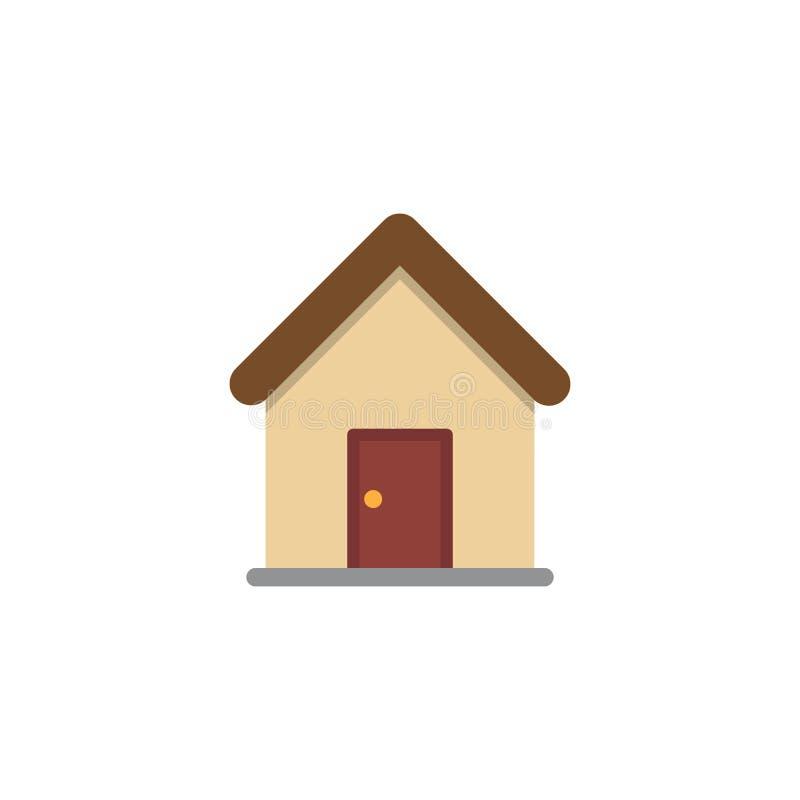 Modern hem- symbol Högvärdig pictogram som isoleras på en vit bakgrund också vektor för coreldrawillustration Högkvalitativt symb vektor illustrationer
