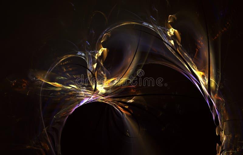 Modern het gloeien vormontwerp Energieke Lichte Sporen en gevolgen royalty-vrije illustratie