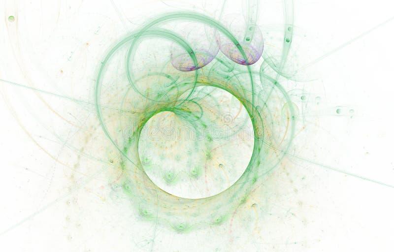 Modern het gloeien vormontwerp Energieke Lichte Sporen en gevolgen stock illustratie