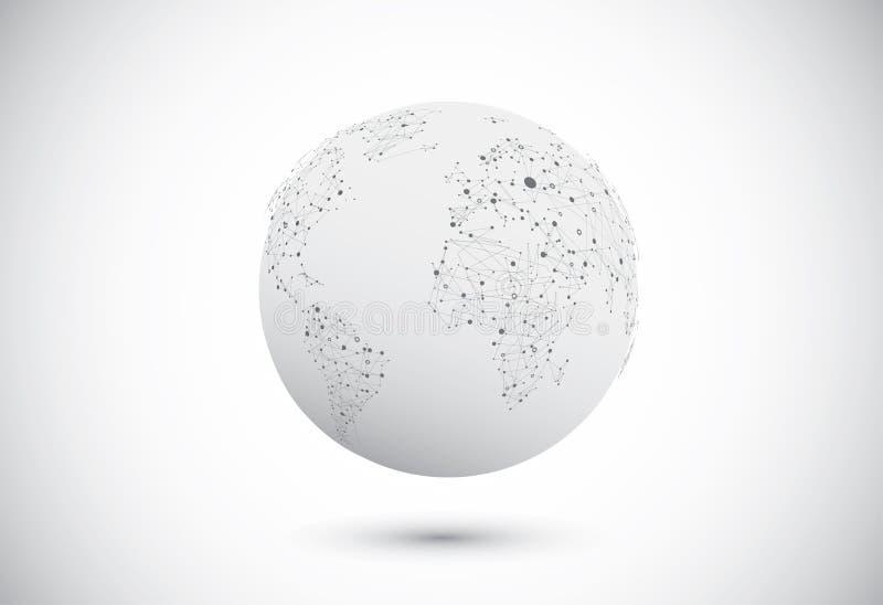 Modern het netwerkontwerp van bolverbindingen. royalty-vrije illustratie